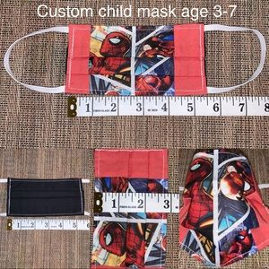 Other - Custom Child age 3-7 Spider-Man fabric face mask